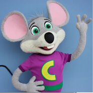 Chuck E. Cheese puppet