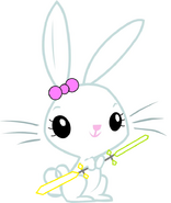 Lillian Bunny (with a three bladed lightsaber (three blades green and three blades yellow))