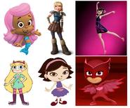 Molly, Astrid Hofferson, Owlette, Star Butterfly, Mavis Dracula & June
