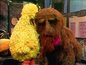 Big Bird is sad that's he's leaving for camp and shares a cry with Snuffy