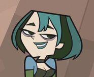 Gwen smiles shyly