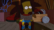 In the dark of the night, evil will find him...Bart Simpson