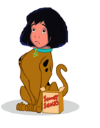 Mowgli as Scooby Doo
