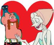 Uncle grandpa and pearl love together
