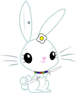 Stephenie Bunny (with a three bladed lightsaber with six white blades)