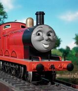 James the red engine as Herky