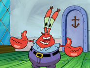 Krabs and friends are happy about spongebob is back