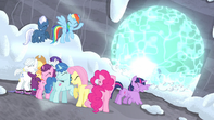 Mane Six shield their eyes S5E02