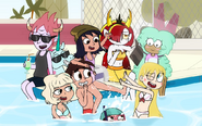 Star and friends have fun in the sun