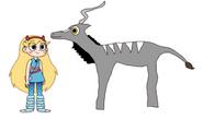 Star meets Lesser Kudu