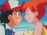 Ash and Misty Bicker