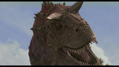 Carnotaurus close-up