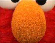 Elmo's Orange nose close-up