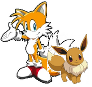 Miles (Tails) Prower And Eevee Are Best Friends