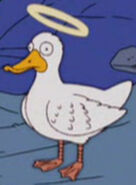 Simpsons Angel Duck