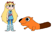 Star meets North American Beaver