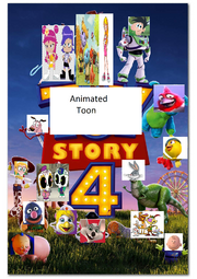 Animated Toon Story 4 Poster