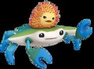 Bluecrab seaurchin