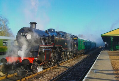 The British Railways Class Standard Four No 80151 Horsted Keynes 1