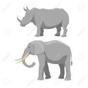 72714829-african-elephant-and-rhinoceros-cartoon-vector-illustration-