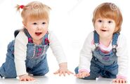 Funny-kids-girls-crawling-floor-25377577