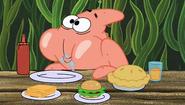 Patrick eating