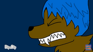 Joy as a werewolf