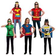 Female Superhero Costumes Adult T-Shirt Halloween Fancy Dress