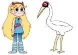 Star meets Whooping Crane