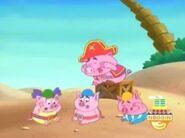The Pirate Piggies loses their blue key after Swiper swipes it