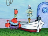 Krabs trouble at squidward