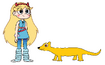 Star meets Yellow Mongoose