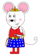 Wonder Mouse Girl (with a pistol gun)