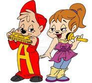 Alvin and brittany music duo by peacekeeperj3low-d8dbdse