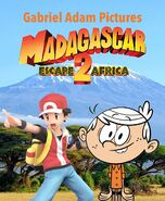Madagascar Escape 2 Africa (Gabriel Adam Pictures Style) Movie Poster