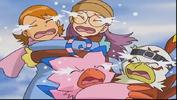 Biyomon hawkmon sora and yolei crying