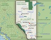 Map of Alberta