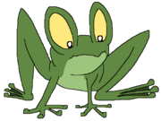 Toby as a frog