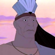 Chief Powhatan in Pocahontas 2 Journey to a New World