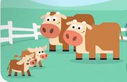 Las Vacas y sus Terneros