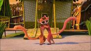 Lemur sisters hugging