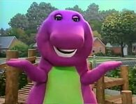 Barney Says- S2- Barney says his rhyme outside of the school