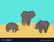Elephant-rhino-and-hippo-vector-4692545