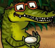 Father crocodile in hugo lek och lar 5 savannens hjaltar
