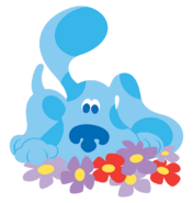 Blue's Clues Blue with Flowers