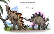 Male and Female Stegosauruses