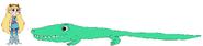 Star meets Saltwater Crocodile