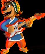 Bodi rock dog playing guitar 2