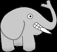 Elephant with No Neck