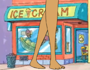 Giant Jane Walks Pass the Ice Cream Shop